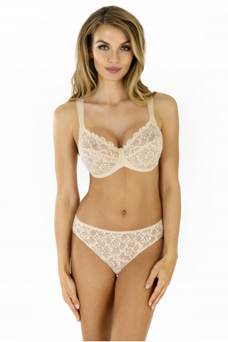 Briefs Anette. Color: beige.