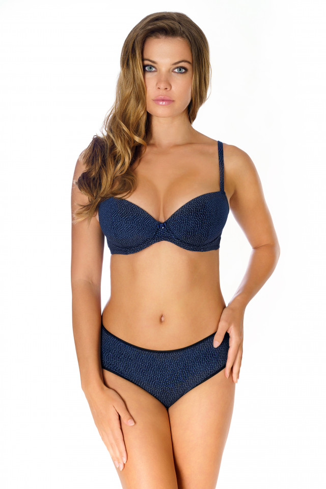 Briefs Emilie. Color: navy blue