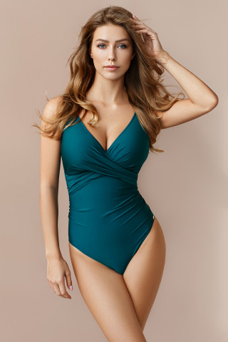 Swimsuit Diana. Color: green