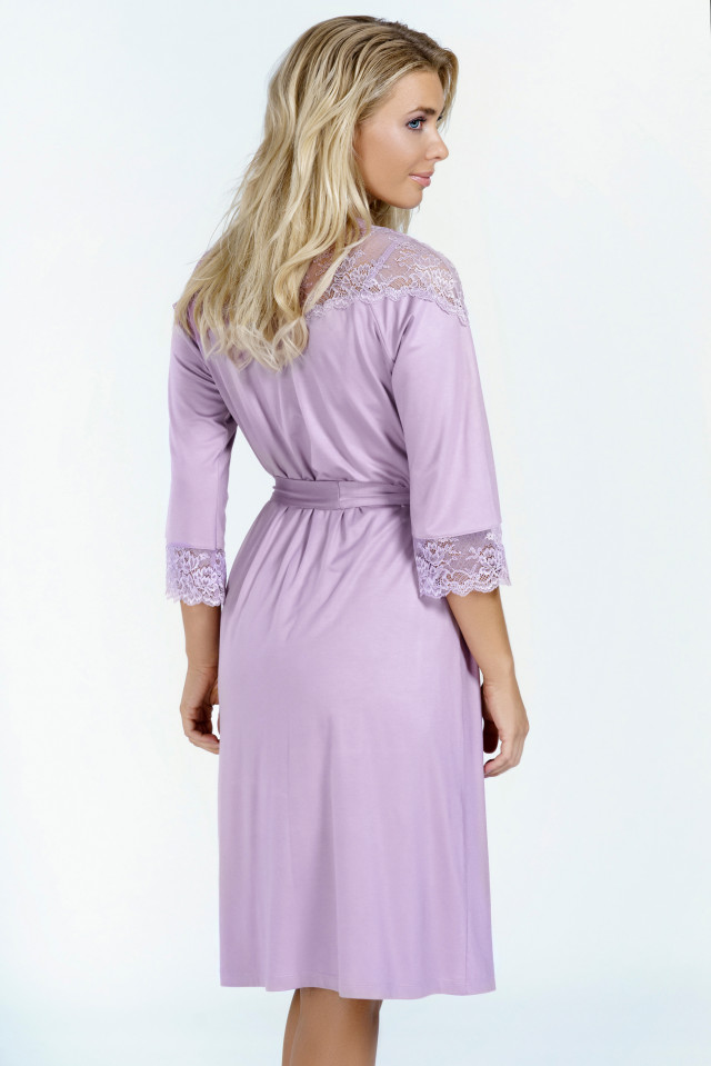 Night robe Lavender nights. Color: pastel purple
